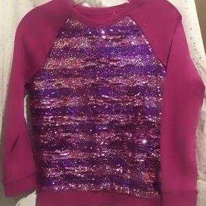 Cat & Jack Girls long sleeve flip sequins